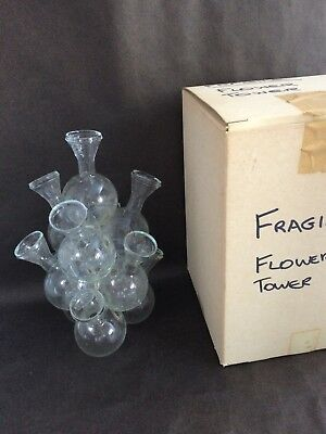 Vintage Glass Flower Tower ~ Unique, Interesting, Impressive