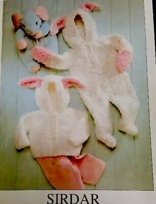"Knitting Pattern Snowflake All In One  Jacket For Baby Or 18"" Doll"