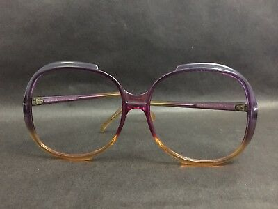 Vintage Eyeglasses or Sunglasses Frame only ~  Purple and Yellow