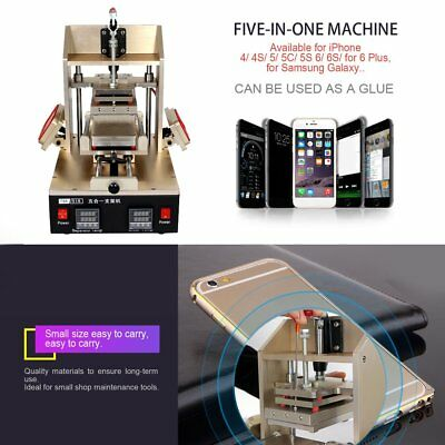 5 in 1 LCD Touch Screen Frame Separator Glue Removal Preheater Repair Machine BE