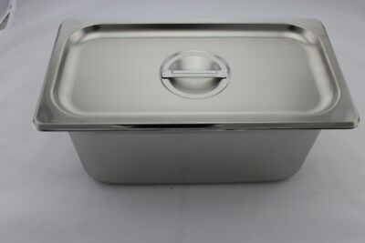 Stainless Steel Bain Marie Tray and Lid 1/3 Size (100mm depth)