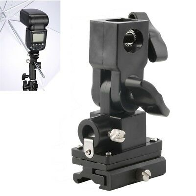 B Type Hot Shoe Flash Umbrella Holder Swivel Light Stand Bracket For Camera BY