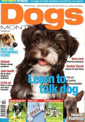 Dogs Monthly Magazine November 2014 MEXICAN HAIRLESS ESSENTIAL FATTY ACIDS