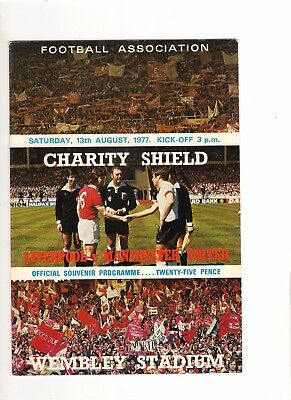 1977  Charity Shield----Liverpool v Manchester United