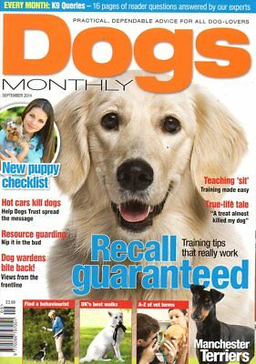 Dogs Monthly Magazine September 2014 MANCHESTER TERRIERS TRAINING TIPS RECALL