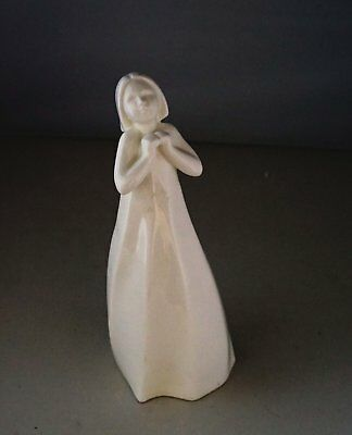 Beautiful Royal Doulton White Figurine Entitled Thankful From Images Collection