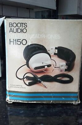vintage boots H150 headphones boxed