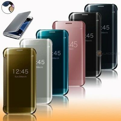 Mirror Flip Cover Samsung S6 S7 Edge Apple Case Case Clear View Case