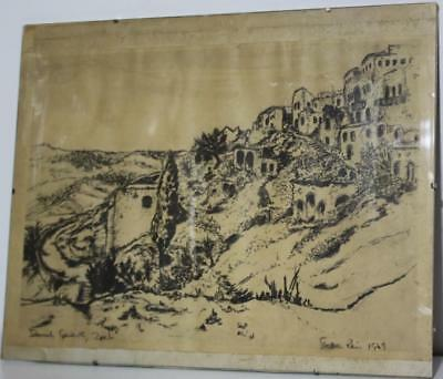 Antique Print after 15th Century Medieval Drawing signed Stella Rein  [PL1607]