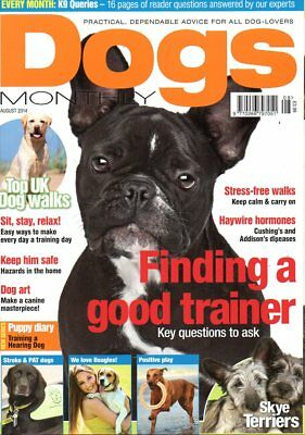Dogs Monthly Magazine August 2014 SKYE TERRIERS STROKE & PAT DOGS FIFE UK WALKS