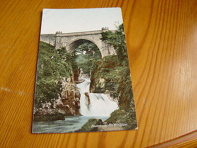 TOP5209 - Postcard - Poulaphuca Waterfall, Co. Wicklow