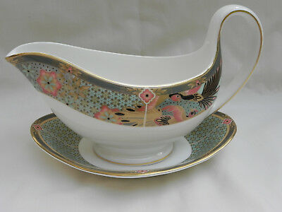 Wedgwood SAMARKHAND GRAVY SAUCE BOAT & SAUCER,. Excellent.