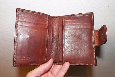 Vintage The Bridge Brown Leather Wallet Never Used With Original Box