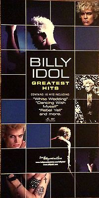 Billy Idol Greatest Hits '01 RARE promo 12 x 12 poster flat - 2-in1