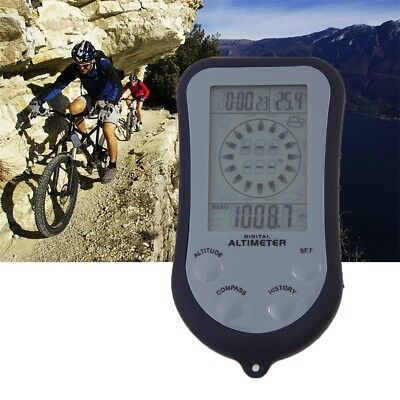IPX 4 Waterproof LCD Digital Mini Portable Compass Altimeter Barometer + BatteA@