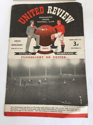MANCHESTER UNITED FC REVIEW Programme 1950/51