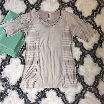 Lululemon Athletica Women's Beige Short Sleeve Shirt Size 8