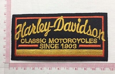 Harley-Davidson Classic 1903 Emblem Sew Iron-On Embroidered Applique Patch Badge
