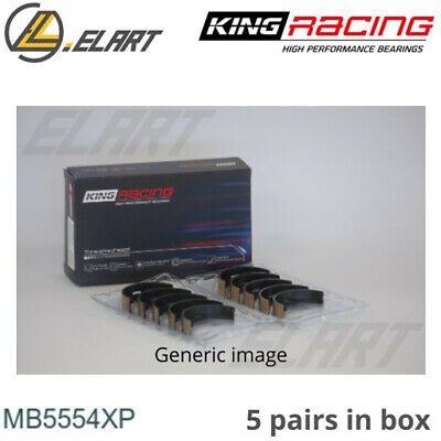 King Racing Main Shell Bearings MB5554XP STD For TOYOTA 1.8-2.0 1S-2S-3S-4S-5S