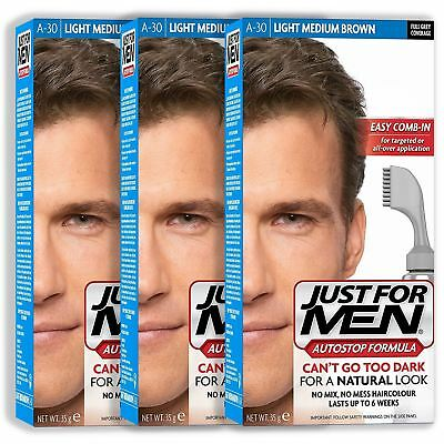 Just For Men Autostop Hair Colourant Dye Various Shades 3 Packs New
