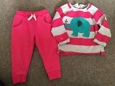 Next Baby Girls Outfit Jumper Jogging Bottoms 18-24months 1.5-2years