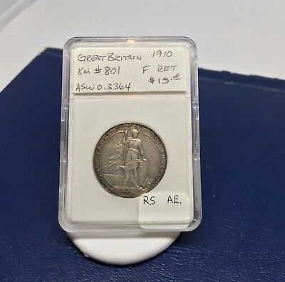 Great Britain 1910 1 Florin Silver Coin