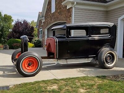 1930 Ford Model A  ** 1930 FORD MODEL A AV8 TUDOR SEDAN 1932 CHASSIS HOT STREET ROD SCTA TROG HAMB