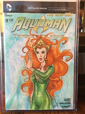 New 52 Aquaman #15 sketch variant of Mera done by Victoria Price (Victra).