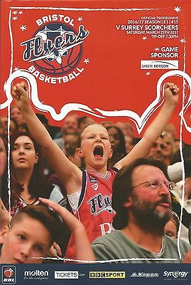 BRISTOL FLYERS  v SURREY SCORCHERS  March 25th 2017