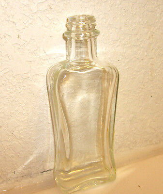 Hair Tonic Clear Glass Barber /beauty Shop Bottle Rare 4 Oz.