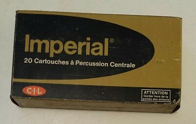 """Vintage Canadian""""cil Imperial 308 Winchester Centerfire"""" Cardboard Box-Empty-180"""