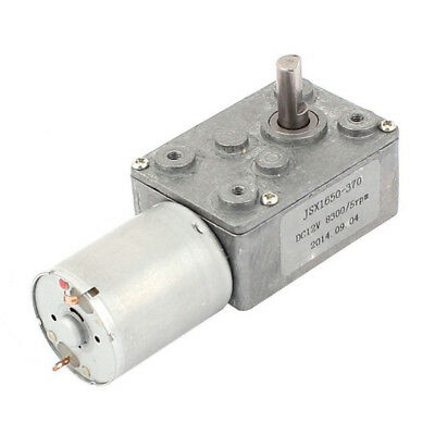 DC 12V 6mm Shaft 5RPM High Torque Turbine Worm Gear Box Reduction Motor K3F6