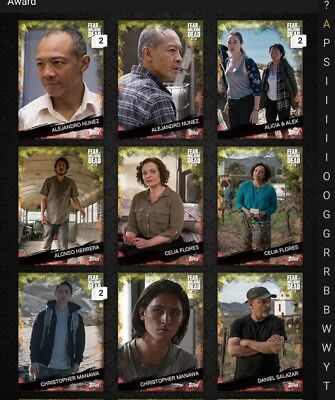 Topps Walking Dead FIRE Base Variants Lot of 24 *Digital Cards*