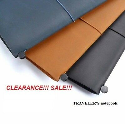 Authentic Travelers Notebook Made in Thailand Refillable Diary Midori Japan