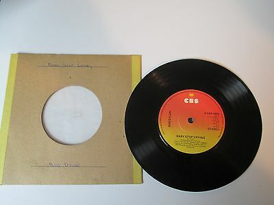 """BOB DYLAN, BABY STOP CRYING / NEW PONY-CBS 7"""" 1978 45 rpm"""