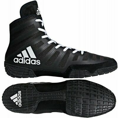 Adidas Adizero Varner Wrestling Shoes Black & White Boots Trainers Pumps