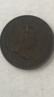1907 CANADA LARGE ONE CENT INCREDIBLE DETAIL  Vintage Canadian One Cent Coin