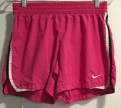 Nike Dri Fit Womens Athletic Work Out Running Pink Black White Shorts Size S
