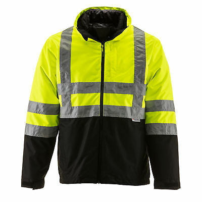RefrigiWear HiVis 3-in-1 Insulated Rainwear Jacket with Reflective Tape