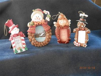 HANGING Tree Ornaments  - MINIATURE PICTURE FRAMES - SET of 3 Plus 1 - UN-USED