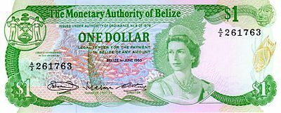 Monetary Authority of Belize 1 dollar 1/6/1980 - Pick 38a - UNC