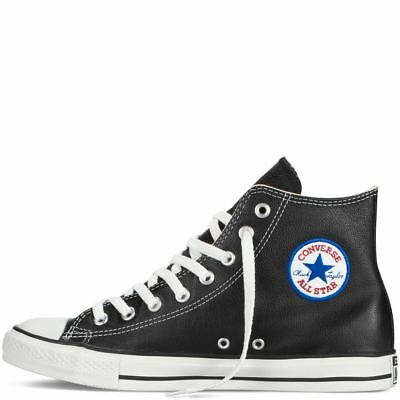 4cb4d2596c2b Converse Ct All Star 132170C High Top Leather Trainers Unisex Black Uk 3-11