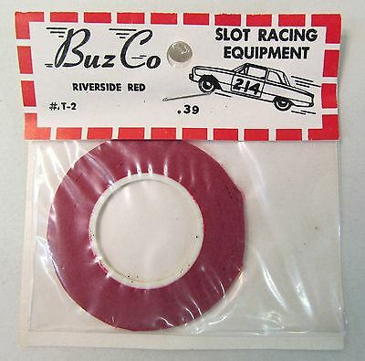 1960s BuzCo T-2 RIVERSIDE RED roll of pin striping tape 1:32 1:24 slot cars MIP