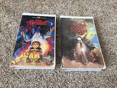 The Hobbit & Lord Of The Rings Animated VHS Lot J.R.R. Tolkien Clamshell Sealed