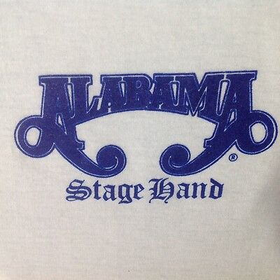 VTG ALABAMA T Shirt Stage Hand New NBW RARE 1990's Concert Tour Local Crew XXL