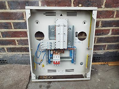 HAGER Distribution board 18 Way 3 Phase 100 Amp Used year 2011
