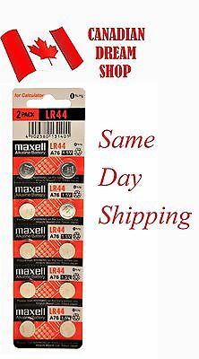 10 Fresh Genuine LR44 MAXELL A76 L1154 AG13 357 SR44 303 BATTERY Batteries