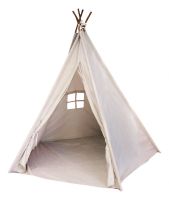 Indoor TeePee Tent – 6 Foot Tall Classic Indian Play Tent for Kids with Five Woo