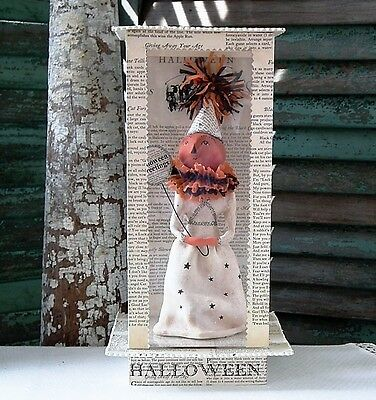 DEE FOUST Pâpier Maché ~HALLOWEEN CLOWN IN BOX~ Jack-O'-Lantern ~ RETIRED & NWT!