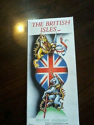 1930s British Railways The British Isles Brochure and Large Fold out Colour Map